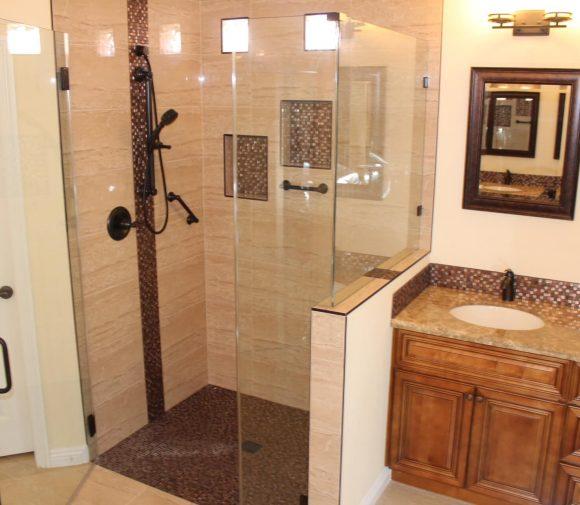 ADA FLAT SHOWER & CUSTOM MASTER BATHROOM