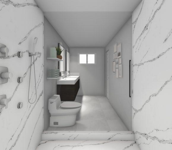 Marble Slabs Shower